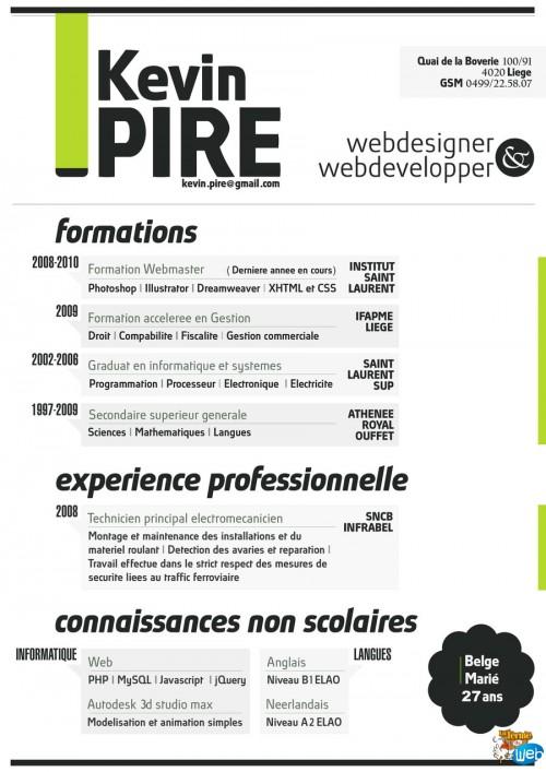 exemples cv design