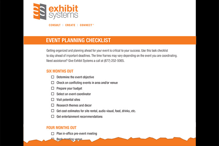Your Event Planning Checklist from Exhibit Systems