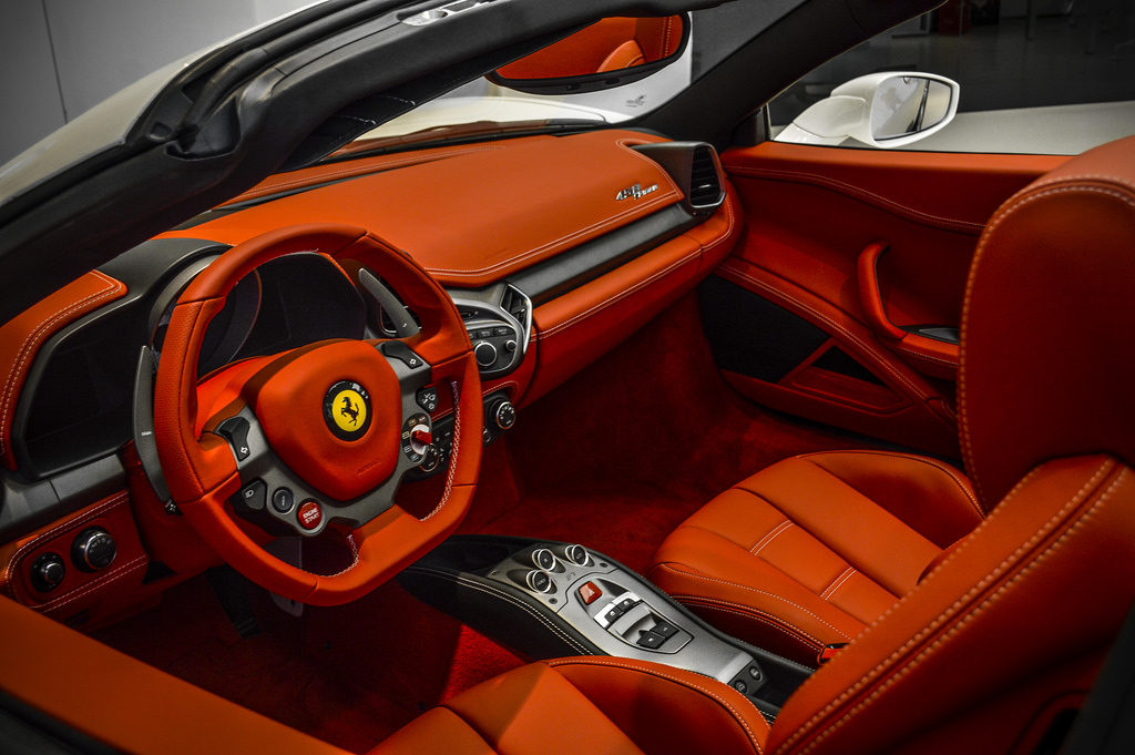 ferrari 458 red interior
