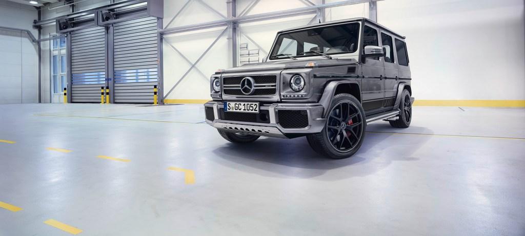 "Mercedes-Benz G-Class (BR 463) 2015; AMG G 63 ""Edition 463""Exterieur: palladiumsilber metallicexterior: palladium silver metallic"
