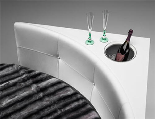Take Your Booze To Bed With The Crystal Disegno Reflex Bed