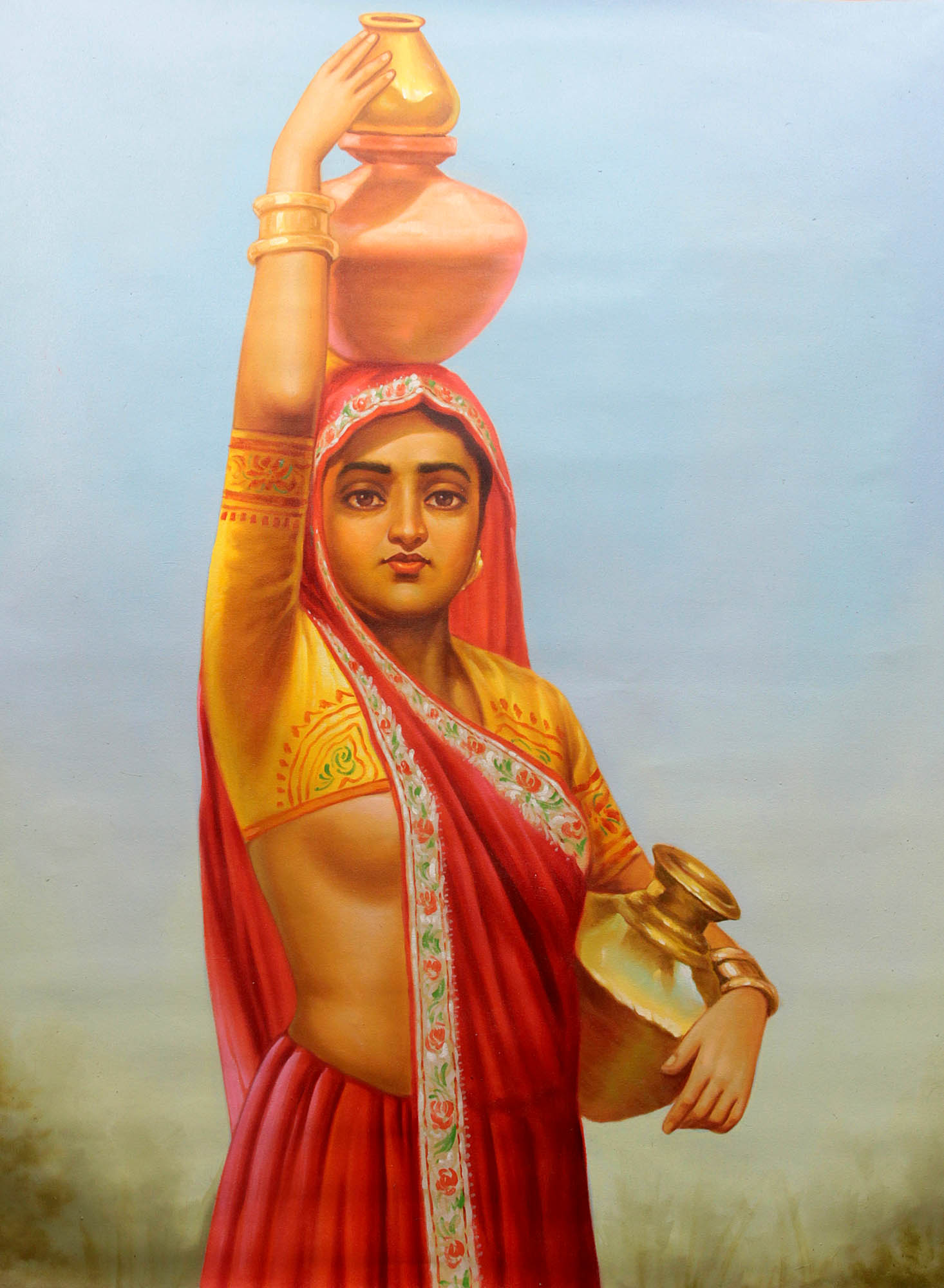 Beautiful Indian Punjabi Girls Desktop Wallpaper A Village Belle With Water Pots