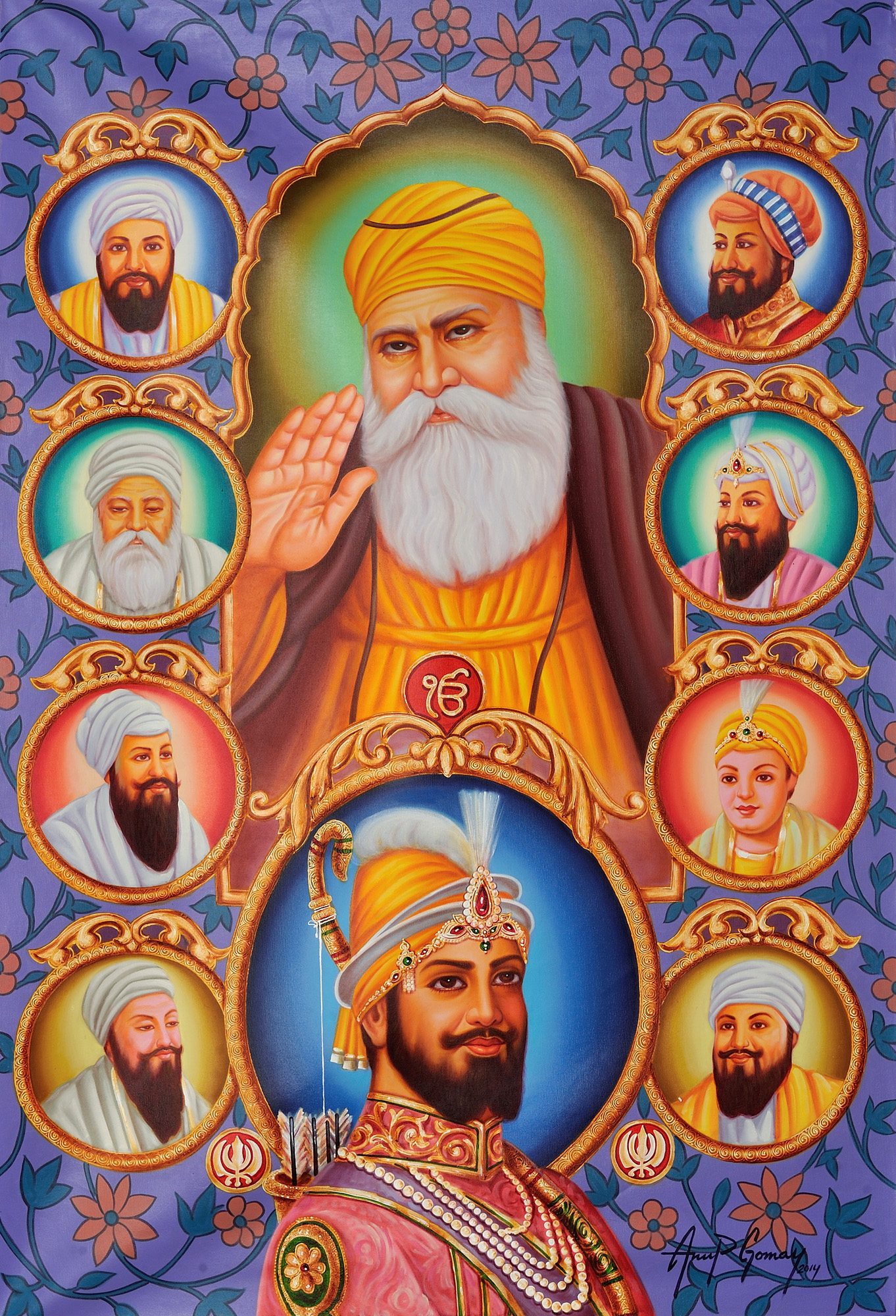 Guru Nanak Hd Wallpaper The Ten Sikh Gurus