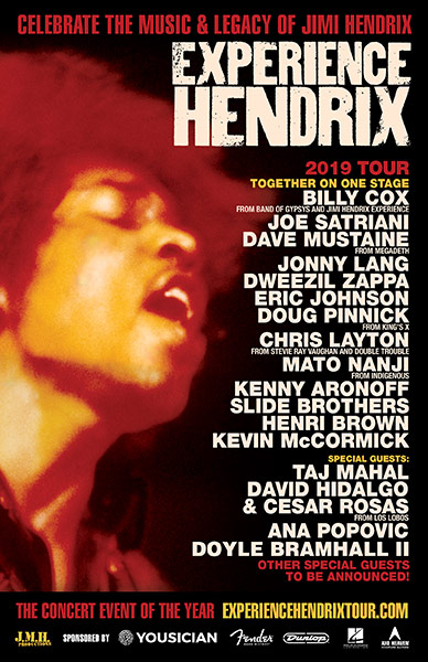 Experience Hendrix Tour News ∙ (October 15, 2018) ∙ EXPERIENCE