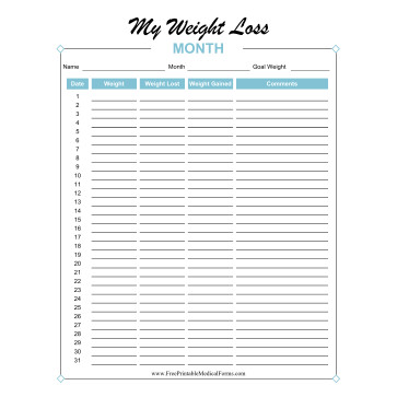Printable Medical Forms, Charts and Logs - medical forms