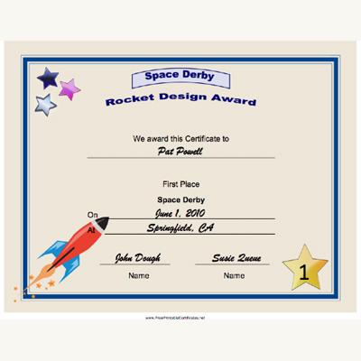 New Printable Certificates