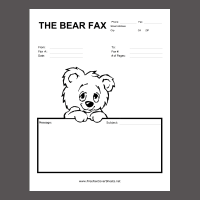 Fax Cover Sheets To Print – Printable Cover Sheet for Fax