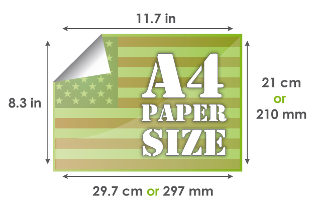 A4 Paper Size - 297 x 210 mm - 297 x 21 cm - 117 x 83 inches