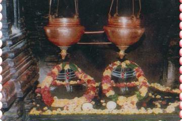Two Shiva Lingams at Sri Kaleshwara Mukteswara Swamy Temple Kaleshwaram