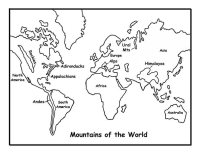 Mountains of the World Coloring Page