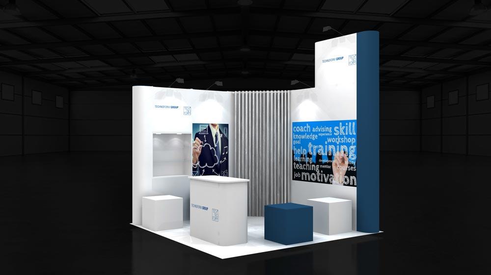 3x3m Corner Exhibition Stands 9 M2 Exhibition Stands