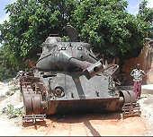 Abandoned Tank in Mogadishu, Somalia