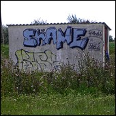 Shame for Mihaha - graffiti by Gabriel [CC-BY-SA-2.0 (http://creativecommons.org/licenses/by-sa/2.0)], via Flickr https://flic.kr/p/8spfHr [cropped]