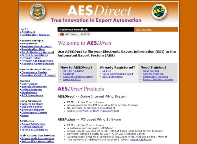 New AES website address for AESDirect users