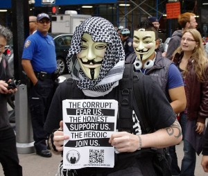Image: Occupy Wall St - In Defense of the Mask - Exposing The Truth