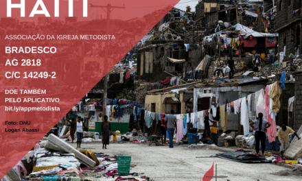 Igreja Metodista arrecada fundos para o Haiti em parceria com o UMCOR