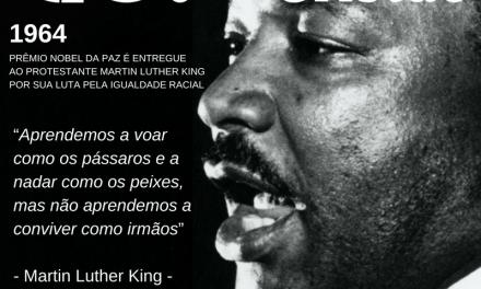 Há 52 anos, o protestante Martin Luther King Jr. recebia o Nobel da Paz