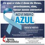 Site Nacional da Igreja Metodista divulga material de apoio para campanha Novembro Azul