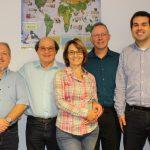 no Cenáculo: editor nacional visita escritório regional na Argentina