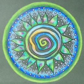 Spiral Path mandala