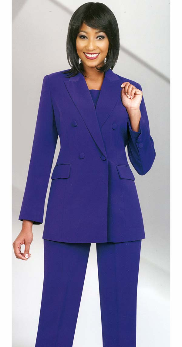 Womens Career Suits by Ben Marc Executive -10498-Purple - ExpressURWay - women suits pant
