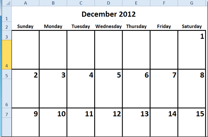 Create New Calendar Excel How To Create A Monthly Calendar In Excel How To Create A Calendar In Excel