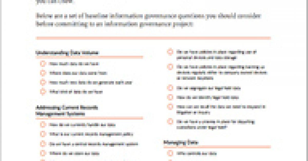 Information Governance Checklist - Exterro