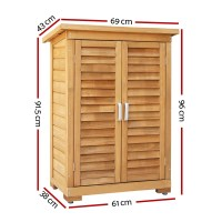 Portable Wooden Outdoor Garden Storage Cabinet | eBay