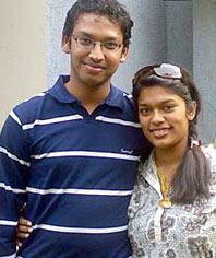 Srija with Husband