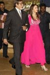 Amitabh and Aishwarya Rai at Shilpa Shetty and Raj Kundra wedding reception