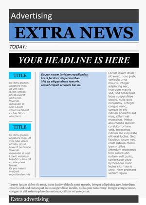 Free Newspaper Template Pack For Word Perfect For School - printable newspaper templates