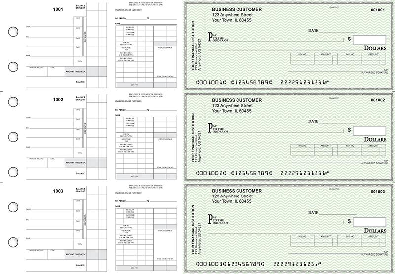 Payroll Invoice Business Checks