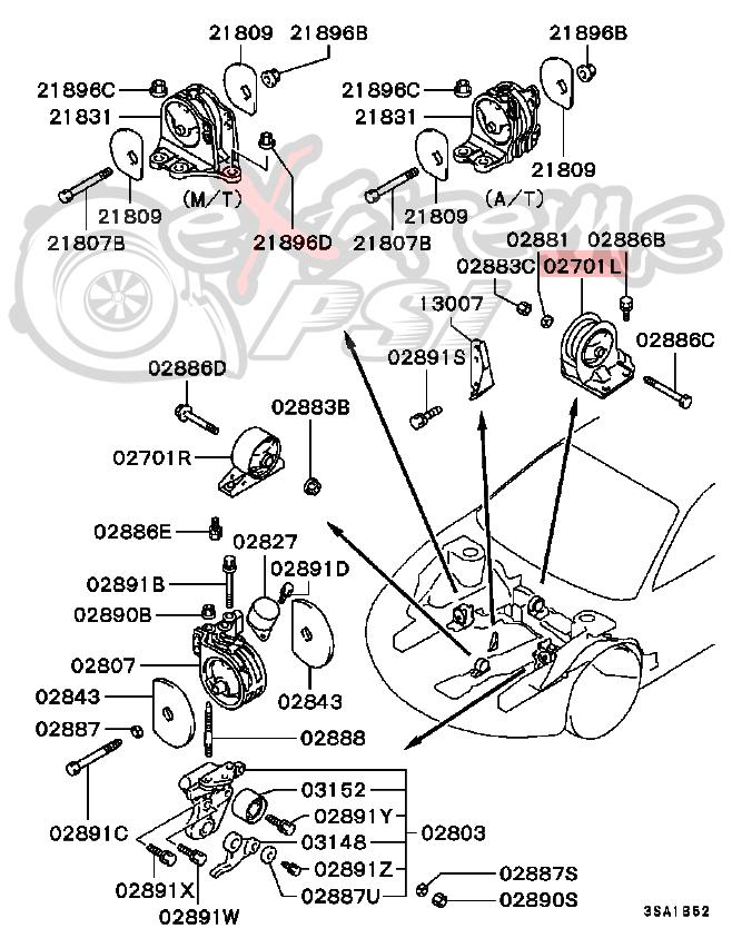 2000 mitsubishi galant Diagrama del motor