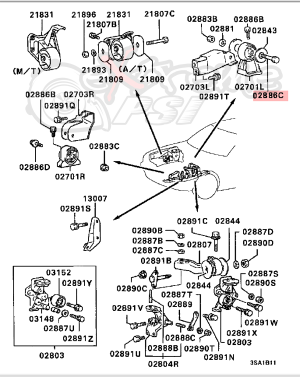 eclipse motor mount diagram