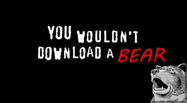 Sad pirated bear
