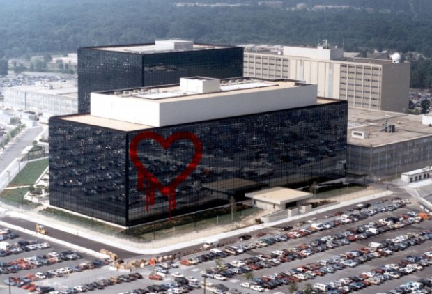 Fort Meade, NSA headquarters, with a Heartbleed