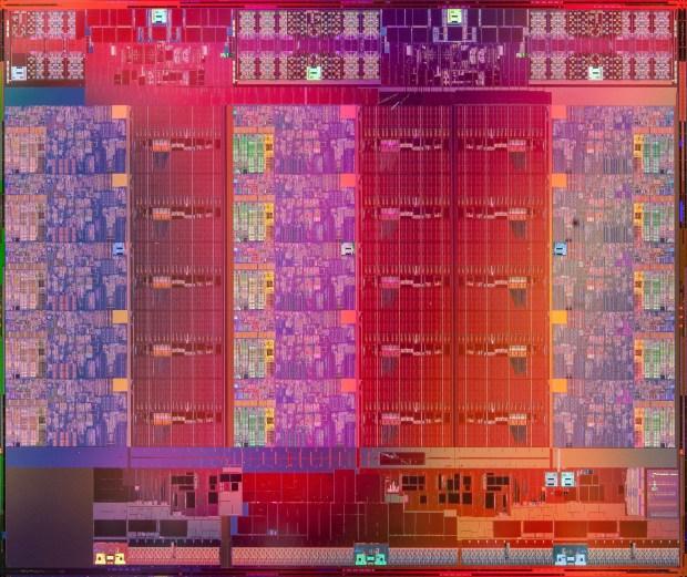 Intel Xeon E7 15-core die