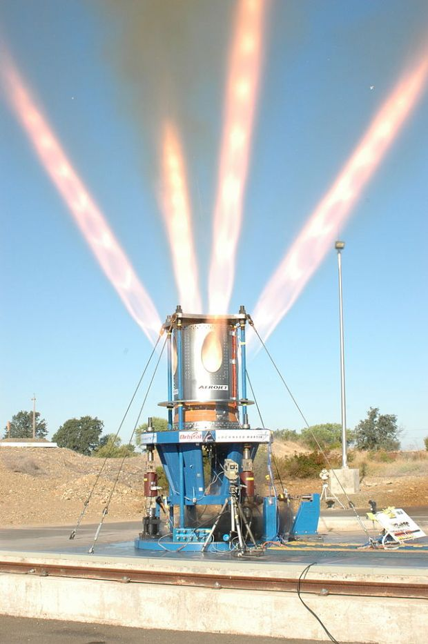Test firing of the Orion jettison rocket, which will fire in the case of a failed launch