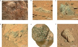 A figure from the study, showing some of the rocks they sampled for this study.