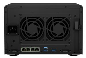 The DS1517+ is offers an impressive array of expansion options including USB drive, 4 LAN ports, additional drive bays, RAM, and PCIe