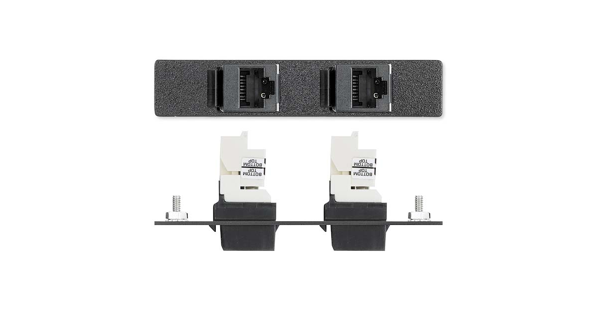 Two RJ-45 Female to Punch Down for CAT 6 - Panduit - Architectural