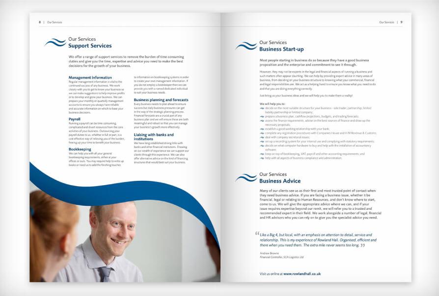 Brochure Design - services brochure