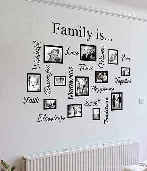 Family quote  picture frame gallery - word design frames