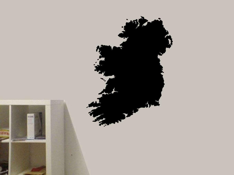 Map decal wall art elitflat ireland map wall art decal wall art decal sticker saveenlarge gumiabroncs Images
