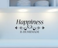 Kitchen happiness is homemade wall decal sticker