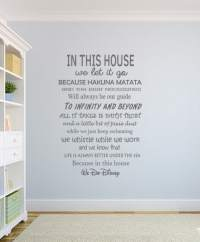 House Rules We Do Disney Wall Decal Sticker by EY Decals