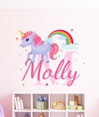 Personalised Unicorn Name Wall Sticker by eydecals