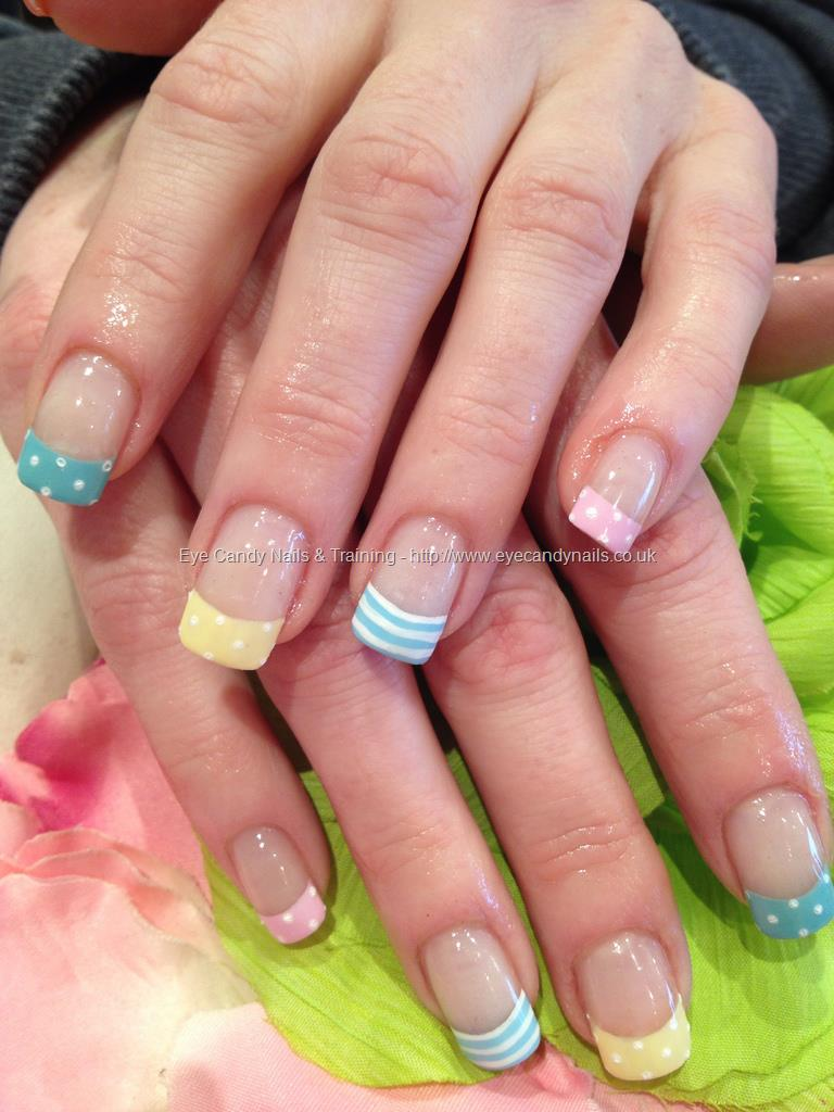 Eye Candy Nails Training Multi Coloured Pastel Tips
