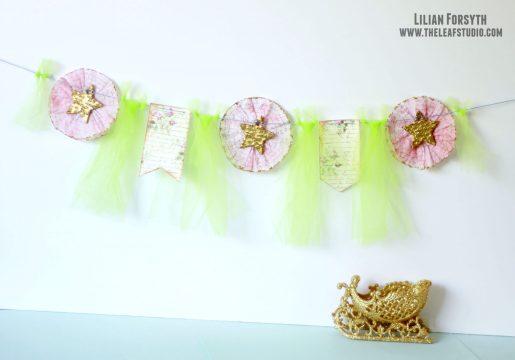 DIY Colorful craft garland.