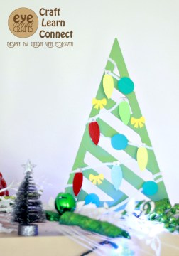 Make this cute little Christmas tree as a fun kids holiday craft project.